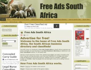 freeadssouthafrica.co.za screenshot