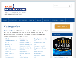 freeaffiliateads.com screenshot