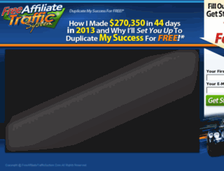 freeaffiliatetrafficsystem.com screenshot