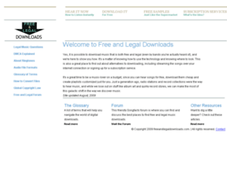 freeandlegaldownloads.com screenshot
