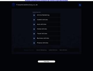 freearticledirectory.co.uk screenshot