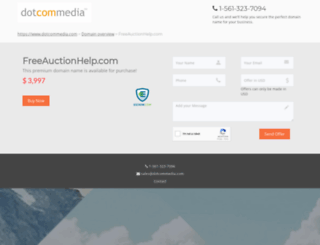 freeauctionhelp.com screenshot
