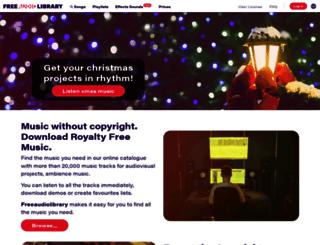 freeaudiolibrary.com screenshot