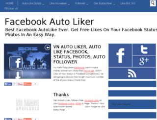 freeauto-likers.blogspot.in screenshot