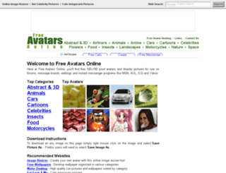 freeavatarsonline.com screenshot