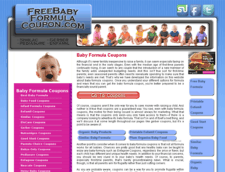 freebabyformulacoupon.com screenshot