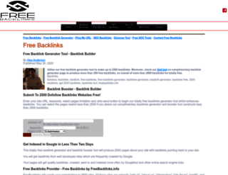 freebacklinks.info screenshot
