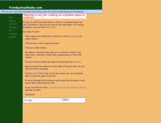 freebaseballradio.com screenshot
