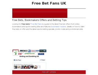 freebetfans.co.uk screenshot