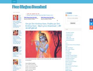 freebhajansdownload.blogspot.in screenshot