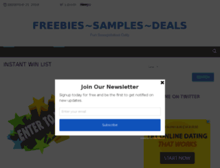 freebiessamplesdeals.com screenshot