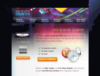 freebloghitcounter.com screenshot