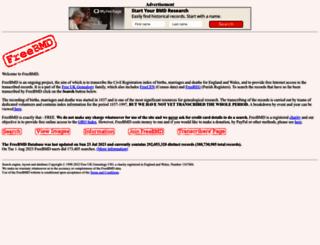 freebmd.org.uk screenshot