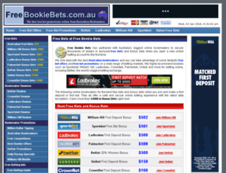 freebookiebets.com.au screenshot