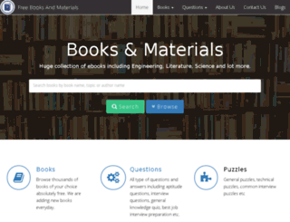 freebooksandmaterials.com screenshot