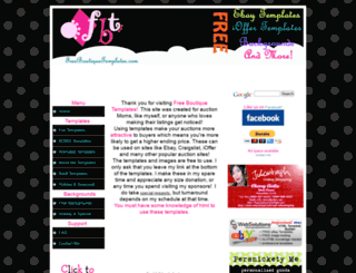 freeboutiquetemplates.com screenshot