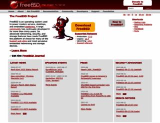 freebsd.org screenshot