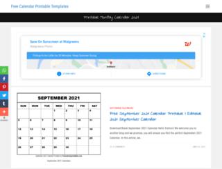 freecalendarprintables.com screenshot