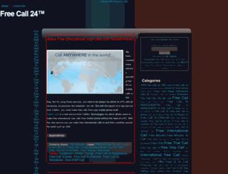 freecall24.blogspot.com screenshot
