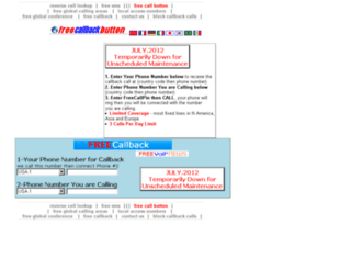 freecallbackbutton.com screenshot
