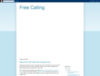 freecallsms-voip.blogspot.com screenshot