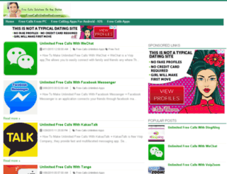 freecallsunlimited.com screenshot