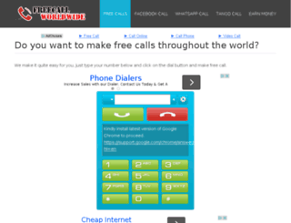 freecallworldwide.com screenshot