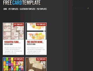 freecardtemplate.com screenshot
