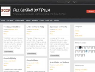 freechristianchatforum.in screenshot