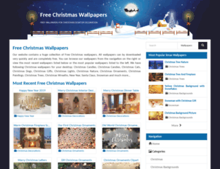freechristmaswallpapers.net screenshot