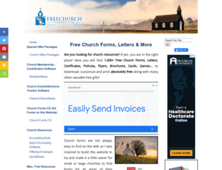 freechurchforms.com screenshot