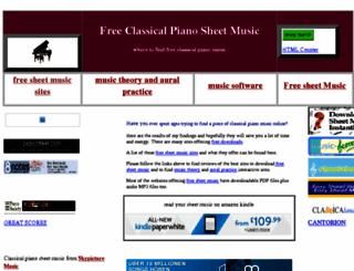 freeclassicalpianosheetmusic.co.uk screenshot