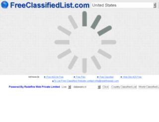freeclassifiedlist.com screenshot