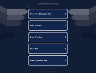 freeclassifiedsites.org screenshot