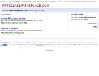 freeclassifiedsplace.com screenshot
