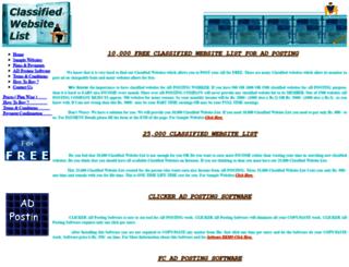 freeclassifiedwebsitelist.com screenshot