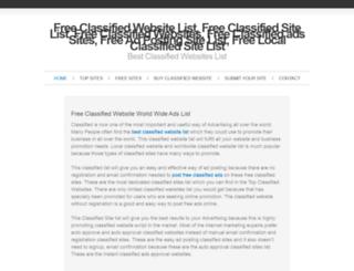 freeclassifiedwebsitelist.elevensites.com screenshot