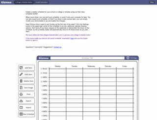 freecollegeschedulemaker.com screenshot