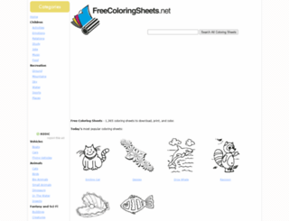freecoloringsheets.net screenshot
