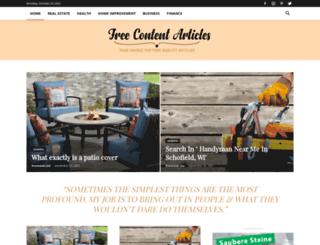 freecontentarticles.net screenshot