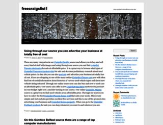 freecraigslist1.wordpress.com screenshot