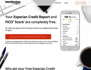 freecreditreport.com screenshot