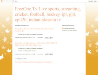freecric-tv.blogspot.com screenshot