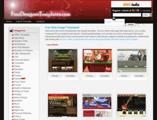 freedesignertemplates.com screenshot