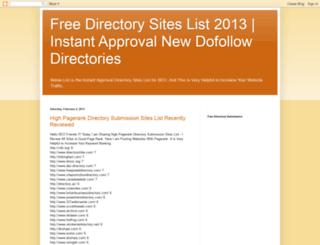 freedirectorysiteslists.blogspot.com screenshot
