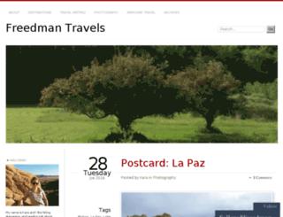 freedmantravels.wordpress.com screenshot