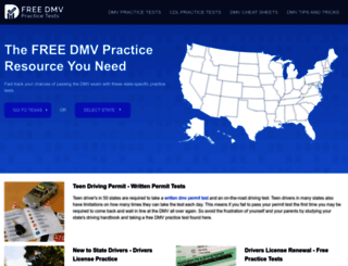 freedmvpracticetests.com screenshot