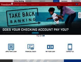 freedomcu.com screenshot