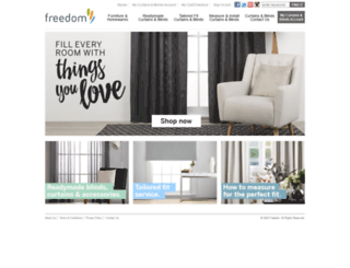 freedomcurtainsandblinds.com.au screenshot