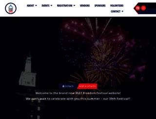 freedomfestival.com screenshot